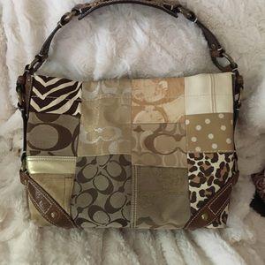 Coach purse, multi brown.